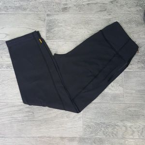 Lucy Cuffed Ankle Leggings Black/Grey Sz Large